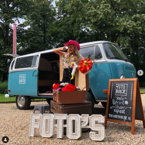 fotobusje VW photobooth huren blauw