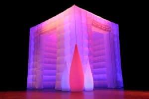 opblaasbaar LED verlichting fotohokje