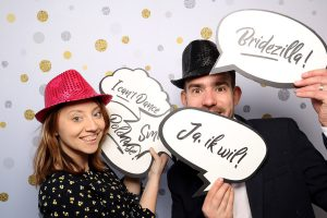 backdrop-gold-silver-dots-bruiloft