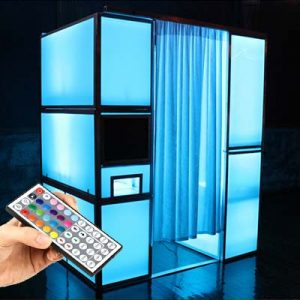 LED photobooth blauw fotohokje