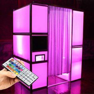 LED photobooth roze fotohokje