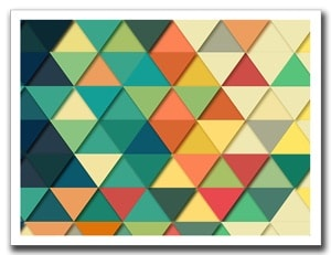 geometrische driehoek achtergrond feest photobooth