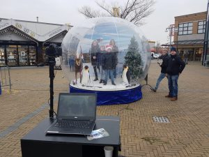snowglobe photobooth huren foto entertainment