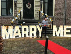 bruiloft lichtletters Marry Me huren