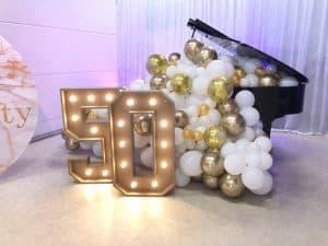 lichtletters huren cijfers jarig jubileum verjaardag