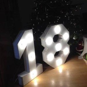 Losse licht letters LED verhuur