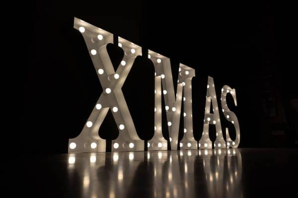 Lichtletters huren Amsterdam kerst